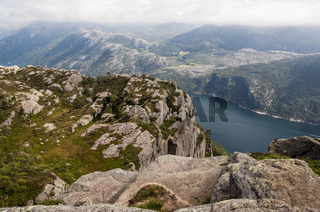 Lysefjord view from Preikestolen