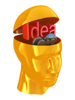 Man with idea