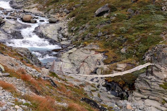 Pendant bridge, Hängebrücke, Jotunheimen, Norway