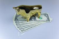 Bulle auf Dollarscheinen