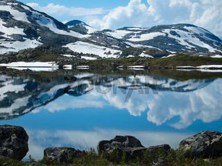 See auf der Hardangervidda, Norwegen
