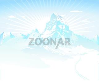 Berge im Winter-.eps