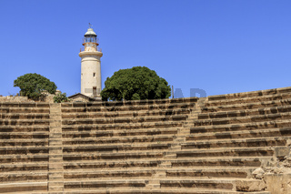 Amphitheatre and Lighthouse Paphos Cyprus