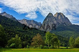 Alpspitze-Zugspitze-Waxenstein