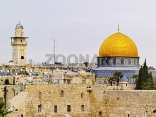 Wailing Wall and Al Aqsa Mosque
