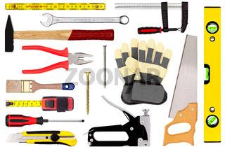 Werkzeuge isoliert auf weiß