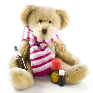 Teddybär mit Medizin