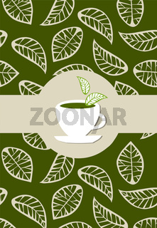 Green tea package label