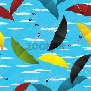 Umbrellas repeating pattern