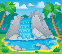 Image with waterfall theme 2 - picture illustration.