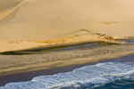 Schiffswrack im Sand der Namib