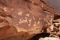 Indian Petroglyphs Near Wolfe Ranch in Arches National Park