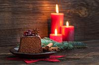 Schokokuchen zu Weihnachten