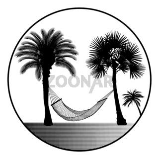Hängematte mit Palmen.eps