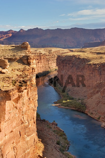 Steep walls of a canyon
