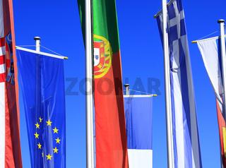Fahnen Europas
