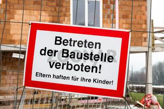 Baustelle, Betreten Verboten