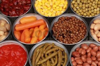 Gemüse in Konserven