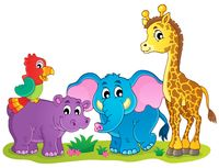 Cute African animals theme image 4 - picture illustration.