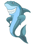 Cartoon Character Shark