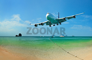 Traveling to tropical countries by airplane