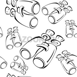 Black-and-white-contour-binoculars-seamless