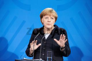 Merkel and Natanyahu at press conference