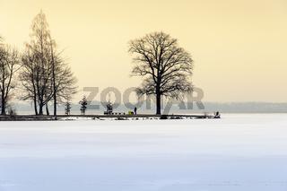 Halbinsel im Winter