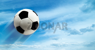 abstract football ar soccer backgrounds against blue skies