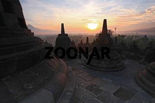 orobudur Temple, sunrise Indonesia