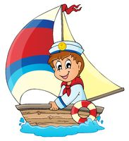 Image with sailor theme 3 - picture illustration.
