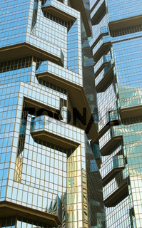windows of skyscrapers