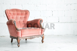 Pink classical Armchair
