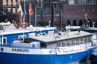 Flusschifferkirche bei der Hamburger Speicherstadt