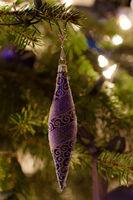 Blauer Weihnachtszapfen