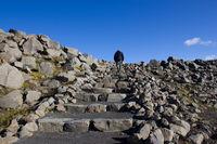 Steiniger Aufstieg