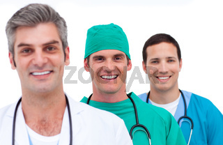 Portrait of a men's medical team
