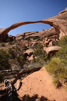 Landscape Arch on a Sunny Day in Arches National Park