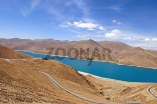 Yamdrok  Lake Tibet China