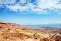 Fragment of the Judean desert near the shore of the Dead Sea.