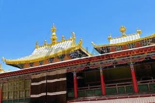 Kloster Tashilhunpo Goldenes Dach Shigatse Tibet