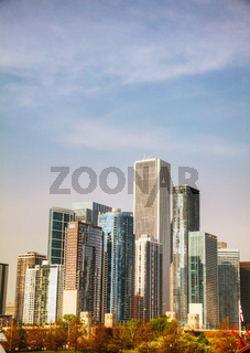 Chicago downtown cityscape