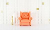 Salmon pink seat