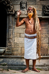 Holy Sadhu man Pashupatinath Temple. Nepal