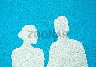 Silhouette eines Paares
