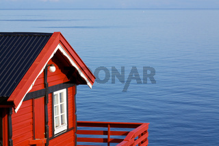 Fishing hut by sea