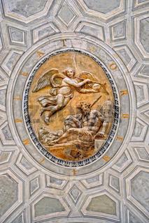 Inside of Vatican museum.
