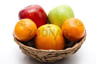 Orangen mit Äpfel