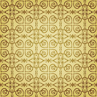 vector seamless floral golden pattern