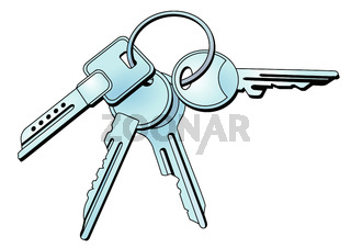 Schlüssel und Schlüsselbund.eps